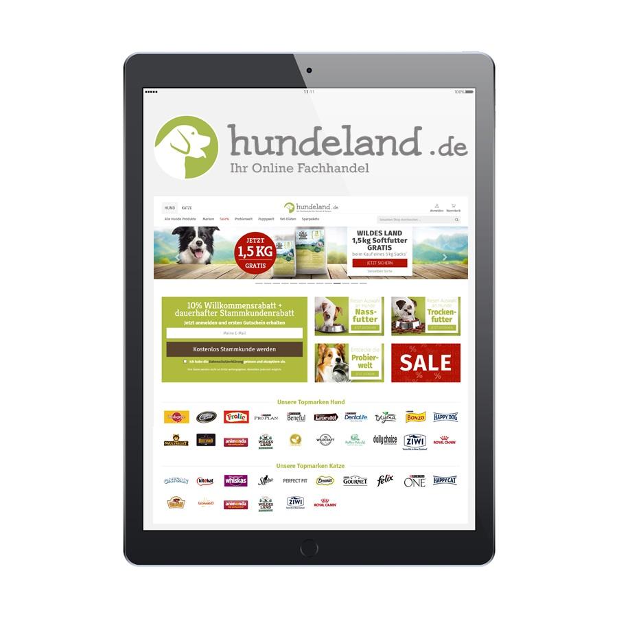 AlphaPet eCommerce Plattform hundeland.de
