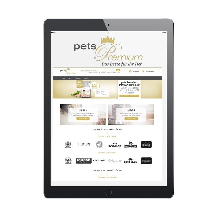 AlphaPet eCommerce Plattform petsPremium
